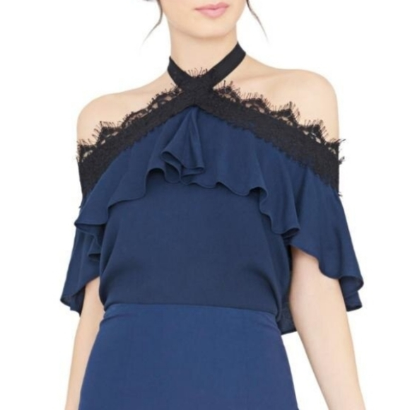 Alice + Olivia Tops - Alice +Olivia By Stacey Bendet Ruffle Lace top